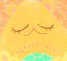 Best Luck Bear (Gold bear) by lemonflower