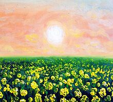 Yellow Field 2 by DWolfDesigns