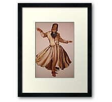 The Remembrance of Allah - A Sufi Whirling Dervish Framed Print