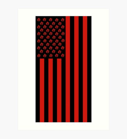 United States of Anarchy - Red Art Print