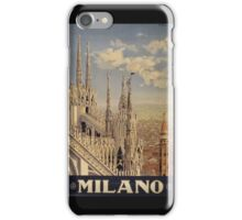 Milano' Vintage Poster (Reproduction) iPhone Case/Skin