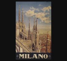 Milano' Vintage Poster (Reproduction) T-Shirt