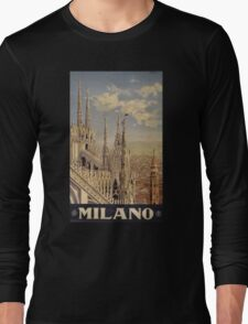 Milano' Vintage Poster (Reproduction) Long Sleeve T-Shirt