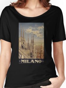 Milano' Vintage Poster (Reproduction) Women's Relaxed Fit T-Shirt