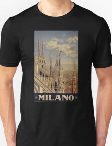 Milano' Vintage Poster (Reproduction) Unisex T-Shirt