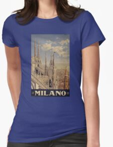 Milano' Vintage Poster (Reproduction) Womens Fitted T-Shirt