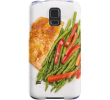 Salmon with Red and Green Samsung Galaxy Case/Skin