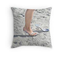 Beach Shoot Throw Pillow