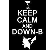 Keep Calm and Down-B Pikachu [White Print] Photographic Print