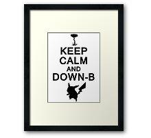 Keep Calm and Down-B Pikachu [Black] Framed Print