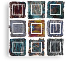 Extractions assembed - oil paintings patchwork Canvas Print