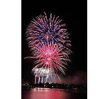 Perth New Years Eve Fireworks  Photographic Print