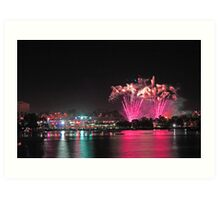 Perth New Years Eve Fireworks  Art Print