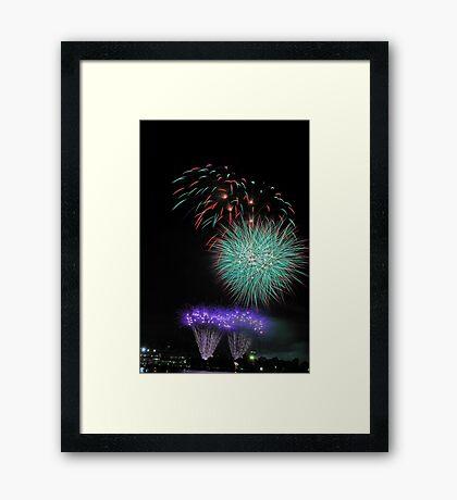 Perth New Years Eve Fireworks  Framed Print