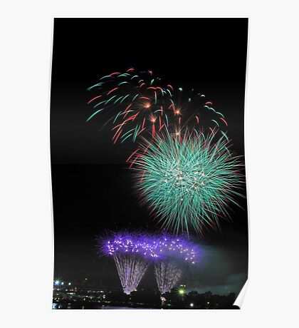 Perth New Years Eve Fireworks  Poster
