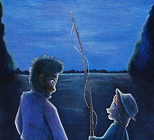 Huck Finn and Jim by huckly