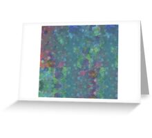 Blue and green abstract painting Greeting Card