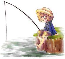 Tom Sawyer Fishing by huckly