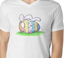 Sleeping Easter Bunny Mens V-Neck T-Shirt