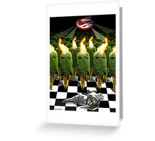 THE INVASION OF EARTH BY THE ALIEN BUSHES Greeting Card