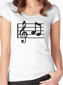Notes music clef Women's Fitted Scoop T-Shirt
