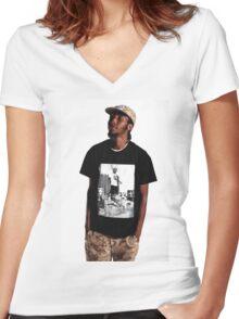 Cj Fly Pro Era Women's Fitted V-Neck T-Shirt