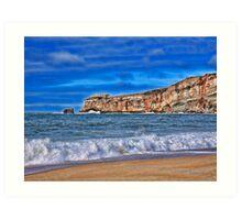 Atlantic Ocean. View from Nazare village, Portugal Art Print