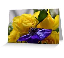 More Roses and Anemones......... Greeting Card