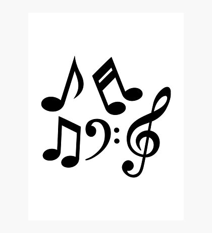Music notes clef Photographic Print