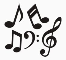 Music notes clef by Designzz