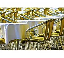 Sunny Chairs Photographic Print