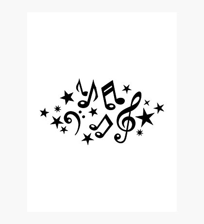 Music notes stars Photographic Print