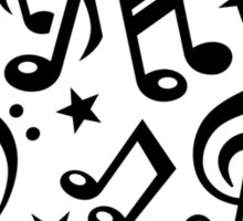Music notes stars Sticker