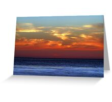 sunset over pacific ocean Greeting Card