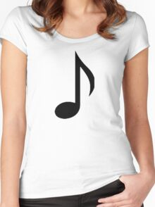 Music note Women's Fitted Scoop T-Shirt