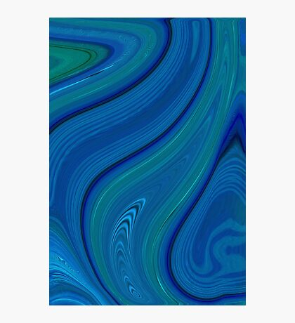 blue swirl Photographic Print