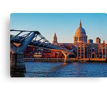 The Millennium Bridge and St Paul's Cathedral, London, England Canvas Print