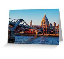 The Millennium Bridge and St Paul's Cathedral, London, England Greeting Card