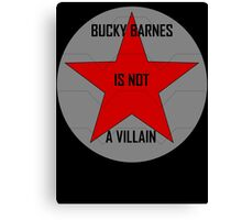 Bucky Barnes is not a Villain Canvas Print