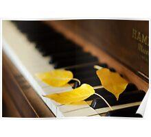 Autumn Piano Poster
