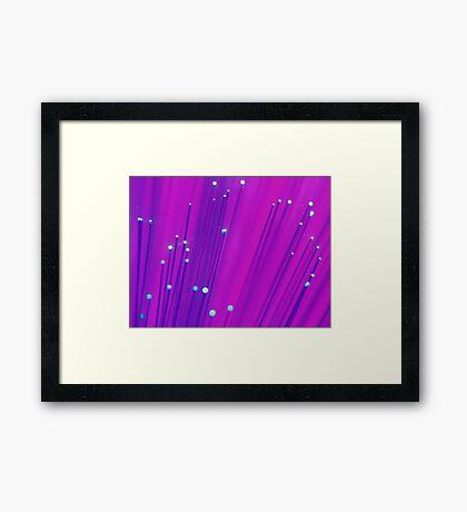purple fibreoptics ... Framed Print