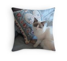 Lily-Rose's New Year's Resolution! Throw Pillow