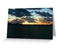 new caledonian sunset  Greeting Card