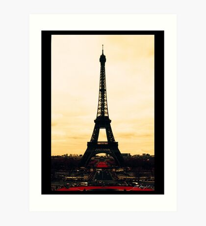 infrared Eiffel Tower Art Print