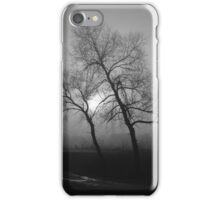 Gloomy tree in the fog iPhone Case/Skin