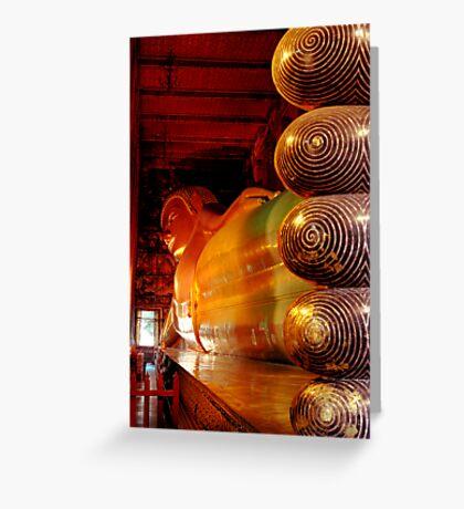 Reclining Budda at Wat Pho Greeting Card