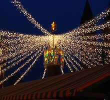 Lights at the Christmas market by Nancy Huenergardt