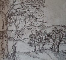 Old and faded scraps of paper-7 by catherine walker