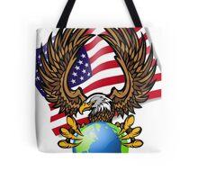 America Bald Eagle Tote Bag