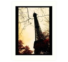 Chemical infrared photography Eiffel Tower Art Print